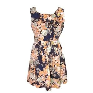 Ixia Floral Dress SZ Small Retro Fit and Flare